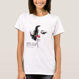 Watercolor face makeup artist branding T-Shirt