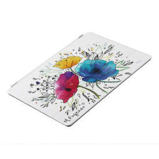 Watercolor Fairy Poppies Customizable iPad Cover
