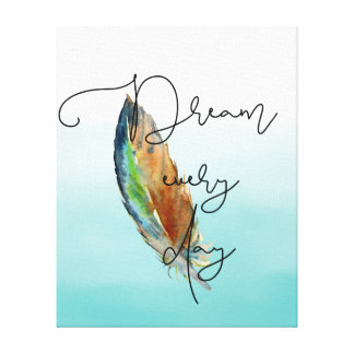 Watercolor Feather Dream Canvas Print