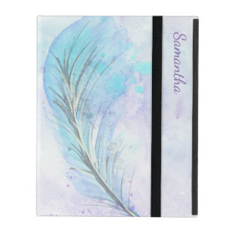 Watercolor Feather iPad 2/3/4 Case Covers For iPad