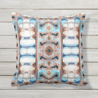 Watercolor Feather Texture Throw Pillow