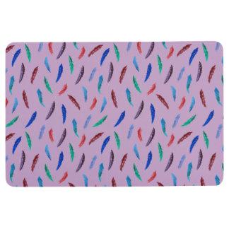 Watercolor Feathers Floor Mat