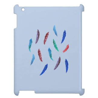 Watercolor Feathers Glossy iPad Case