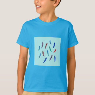 Watercolor Feathers Kids' T-Shirt