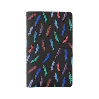 Watercolor Feathers Large Notebook
