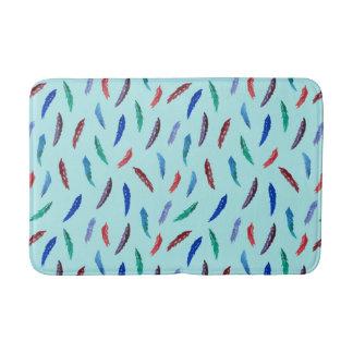 Watercolor Feathers Medium Bath Mat