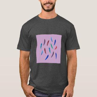 Watercolor Feathers Men's Basic Dark T-Shirt