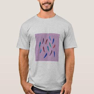 Watercolor Feathers Men's Basic T-Shirt