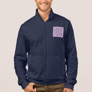 Watercolor Feathers Men's Zip Jogger Jacket