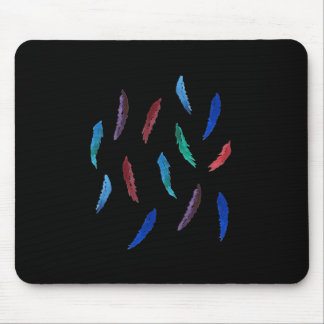 Watercolor Feathers Mousepad