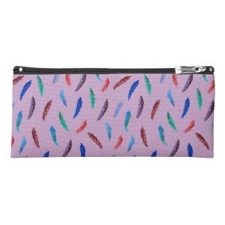 Watercolor Feathers Pencil Case