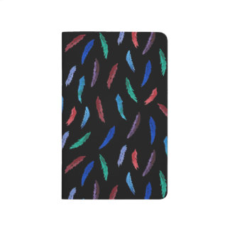 Watercolor Feathers Pocket Journal
