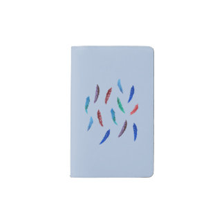 Watercolor Feathers Pocket Notebook