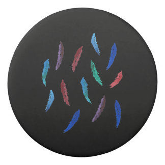 Watercolor Feathers Round Eraser
