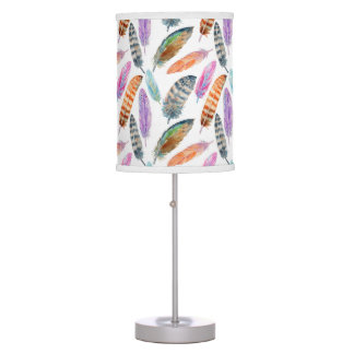 Watercolor Feathers Table Lamp