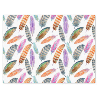 Watercolor Feathers Tissue Paper