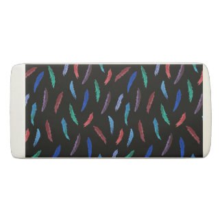 Watercolor Feathers Wedge Eraser