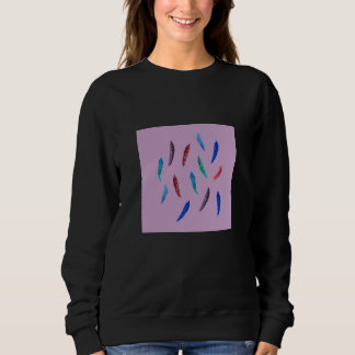 Watercolor Feathers Women's Basic Sweatshirt