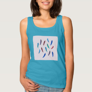 Watercolor Feathers Women's Basic Tank Top