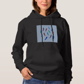 Watercolor Feathers Women's Hooded Sweatshirt