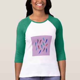Watercolor Feathers Women's Raglan T-Shirt