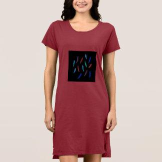 Watercolor Feathers Women's T-Shirt Dress