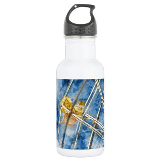 Watercolor Ferris Wheel in Santa Cruz California 532 Ml Water Bottle