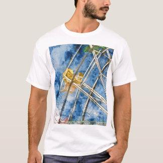 Watercolor Ferris Wheel in Santa Cruz California T-Shirt