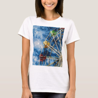 Watercolor Ferris Wheel in Santa Cruz California T-Shirt