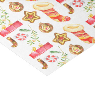 Watercolor Festive Christmas Tissue Paper