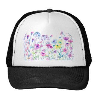 Watercolor Field of Pastel, Wildflower Meadow Trucker Hat