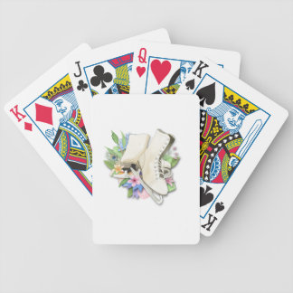 Watercolor Figure Skates Custom Giftware Poker Deck