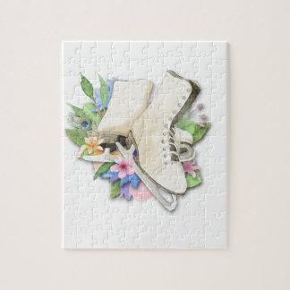 Watercolor Figure Skates Custom Giftware Puzzle
