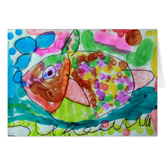 Watercolor Fish Card - Art by Ayla