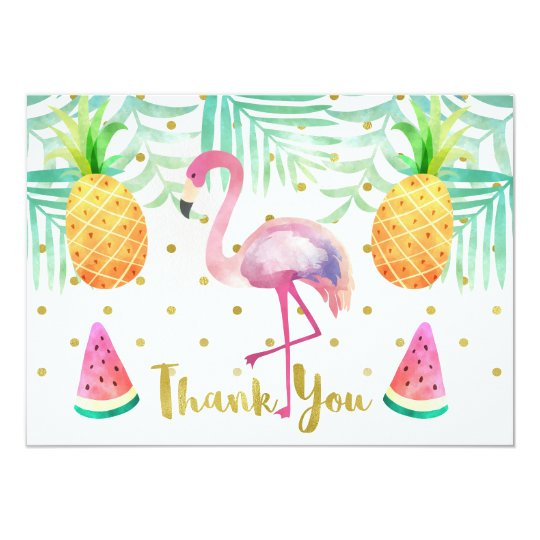 Completely new Watercolor Flamingo Birthday Thank You Card | Zazzle.ca WH27