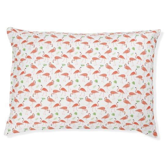 Watercolor Flamingo Dog Bed Pillow