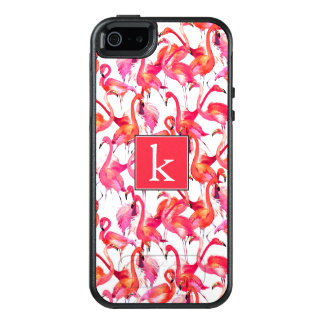 Watercolor Flamingo In Watercolors | Add Your Name OtterBox iPhone 5/5s/SE Case