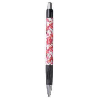 Watercolor Flamingo In Watercolors | Add Your Name Pen