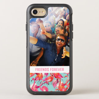 Watercolor Flamingos | Add Your Photo & Text OtterBox Symmetry iPhone 8/7 Case