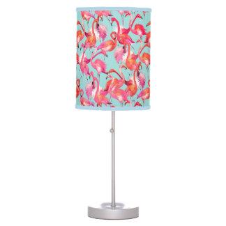 Watercolor Flamingos Gathered Desk Lamp