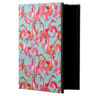 Watercolor Flamingos Gathered iPad Air Covers