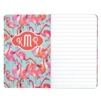 Watercolor Flamingos Gathered | Monogram Journals