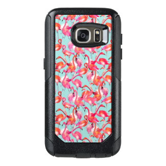 Watercolor Flamingos Gathered OtterBox Samsung Galaxy S7 Case