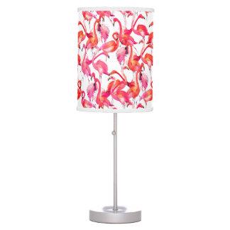 Watercolor Flamingos In Watercolors Desk Lamps