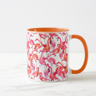 Watercolor Flamingos In Watercolors Mug