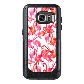 Watercolor Flamingos In Watercolors OtterBox Samsung Galaxy S7 Case