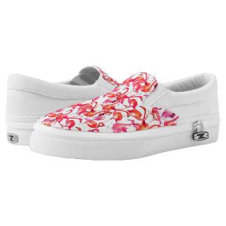Watercolor Flamingos In Watercolors Slip-On Sneakers