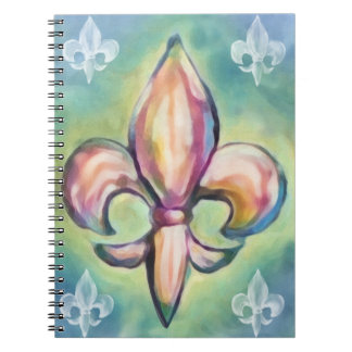 Watercolor Fleur de Lis Notebooks