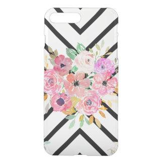 Watercolor floral and geometric diamond design iPhone 8 plus/7 plus case
