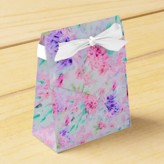 Watercolor floral aster painting pattern favor box